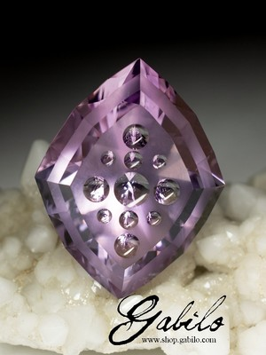 Author's facet of amethyst 42.15 carat