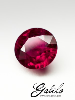 Ruby cut 0.75 carats with certificate
