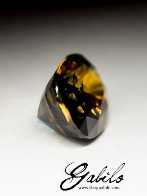 Two-color sapphire 2.07 carat with certificate