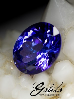 Tanzanite cut 2.74 carats with certificate