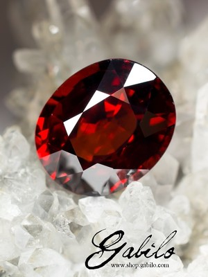 Spessartin cut 13.88 carats with gem report MSU