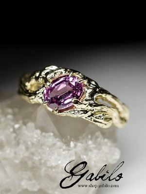 Spinel gold ring with Jewelry Report MSU