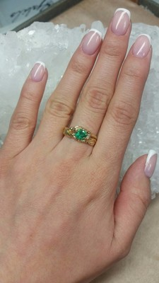 Emerald gold ring with jewellery report MSU