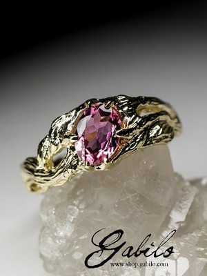 Rubellite Gold Ring with jewellery report MSU