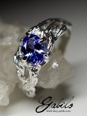 Made to order: Tanzanite silver ring with gem report MSU