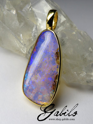 Made to order: australian Opal Gold Pendant