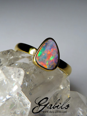 Made to order: Boulder Opal Gold Ring