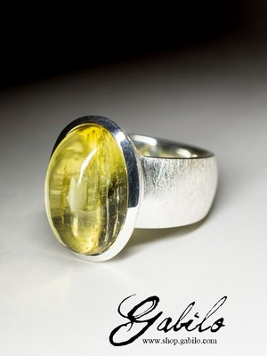 Made to order: Heliodor silver ring