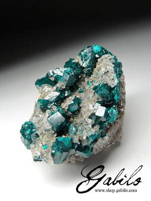 Dioptase on a matrix