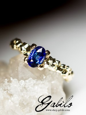 Made to order: Sapphire Gold Ring
