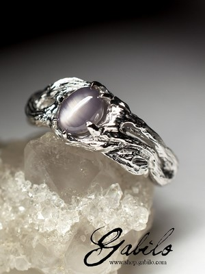 Star sapphire silver ring with Jewelry Report MSU