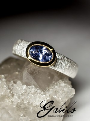 Sapphire Silver Ring with Jewelry Report MSU