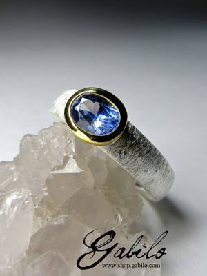 Blue sapphire silver ring with Jewelry Report MSU