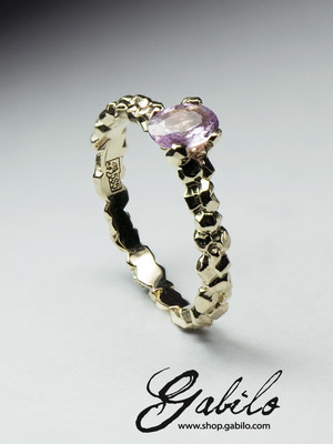 Made to order: Pink sapphire gold ring with Jewelry Report MSU