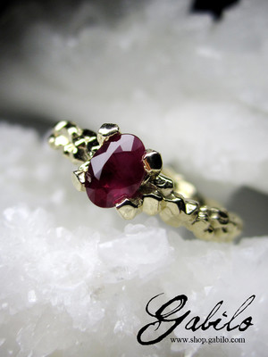 On order: Ruby Gold Ring