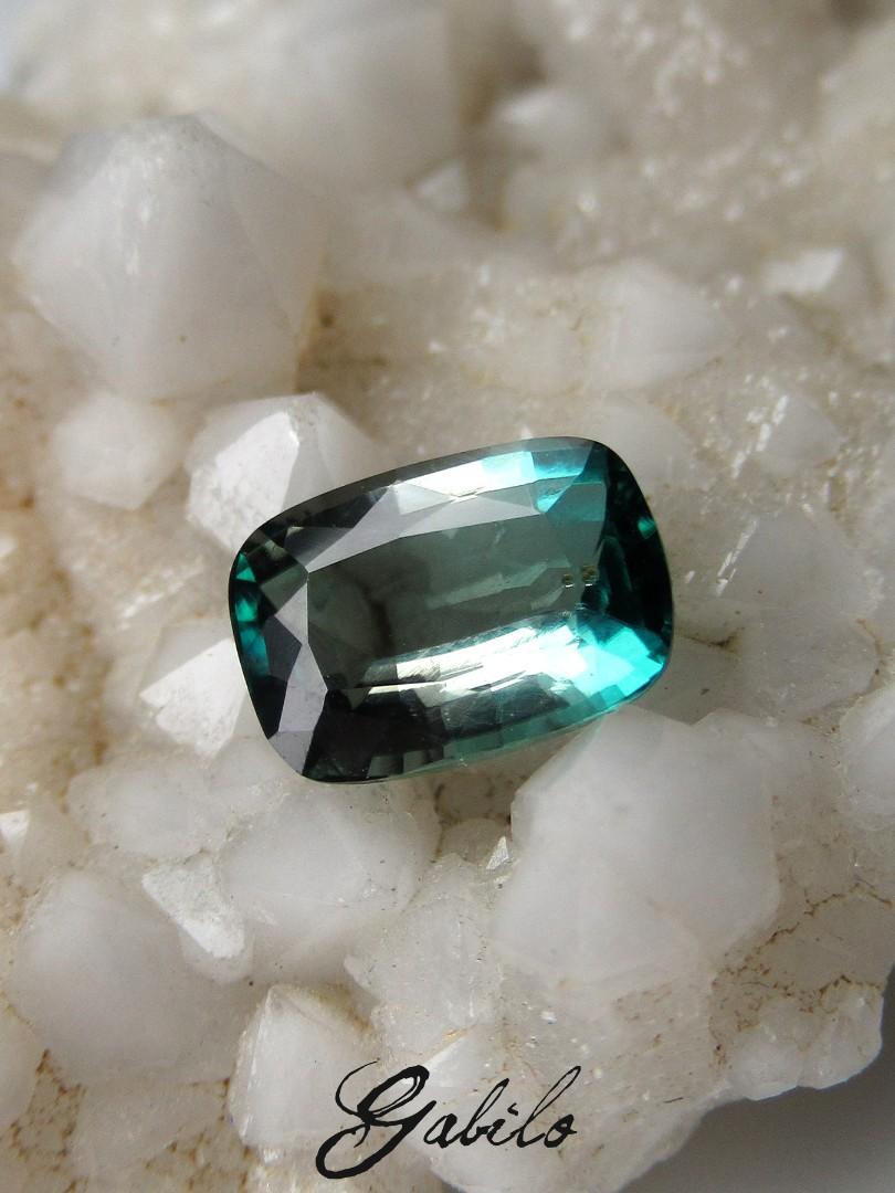 Loose Gemstone 39 Cts Certified Cushion Cut AAA Blue Grandidierite