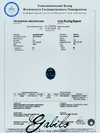 Sapphire oval cut 1.19 ct with gem testing report MSU