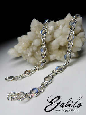 Made to order: Moonstone silver bracelet