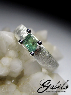 Alexandrite Crystal Silver Ring