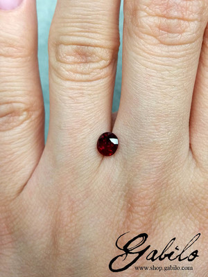 Ruby 4х5 cushion cut 0.81 ct with gem report MSU