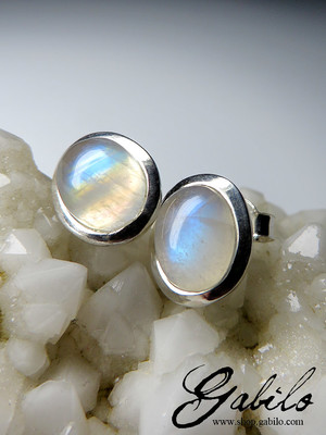 Moonstone silver studs