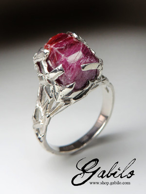 Made to order: Ruby silver ring
