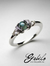 Chatoyancy alexandrite diamonds gold ring