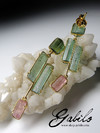 Made to order: Tourmaline crystals gold earrings