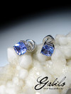 Made to order: Tanzanite gold earrings