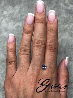 Tanzanite cushion cut 0.83 ct