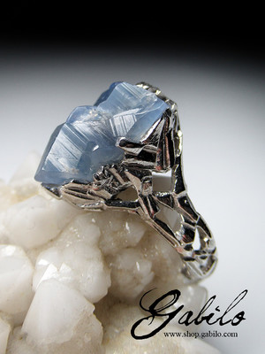 Made to order: Sapphire crystal silver ring