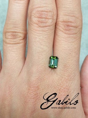 Polychrome tourmaline 1.05 ct