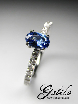 Tanzanite diamonds gold ring