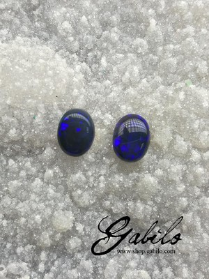 Black opal pair 1.85 ct