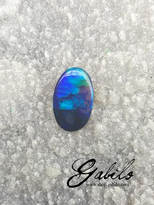 Black opal oval cut 3.04 ct