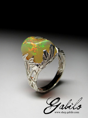 Made to order: Opal silver ring