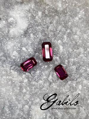 Ruby emerald cut with MSU Gem Report