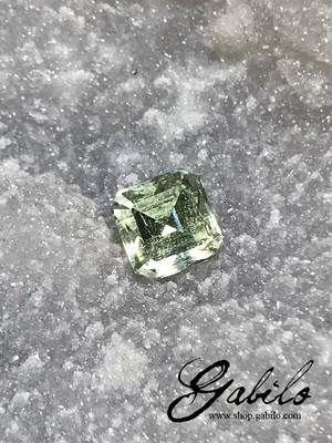 Heliodor 9x9 cut 4.15 ct