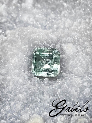 Aquamarine 9x9 cut 4.10 ct