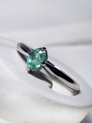 Tourmaline Paraiba gold ring with Gem Testing Report