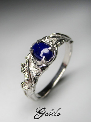 Lazurite silver ring
