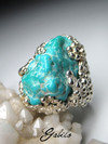 Turquoise silver ring
