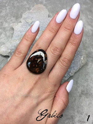 Mexican fire agate cut with Gem Testing Report