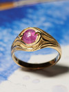 Star ruby gold ring