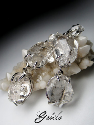 Herkimer Diamond silver earrings