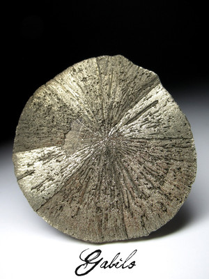 Collection sample Pyrite disk 630.90 carat