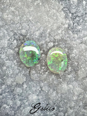 Opal pair oval cut 1.60 ct