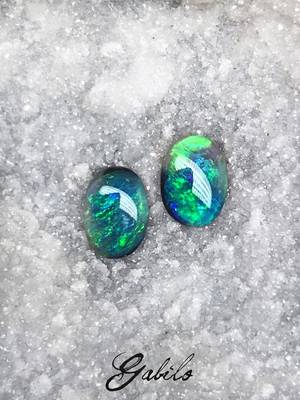 Black opal pair 1.20 ct