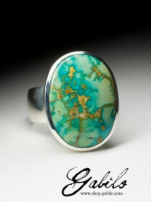 Large ring with turquoise
