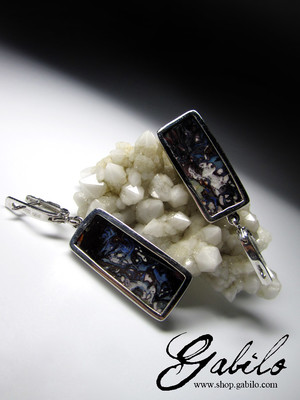 Big Koroit Opal Silver Earrings